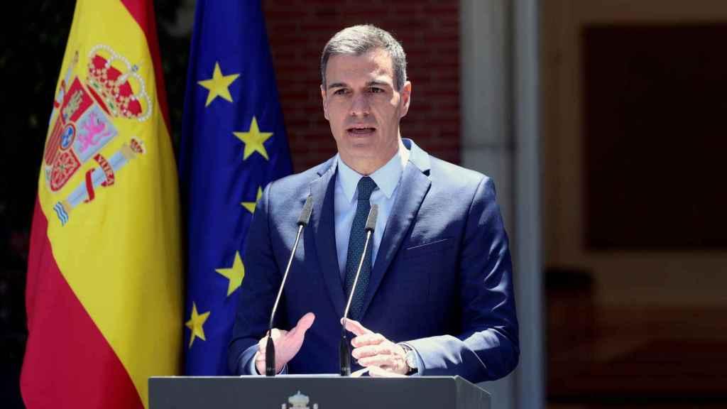 El presidente del Gobierno, Pedro Sánchez, este martes en La Moncloa. Efe