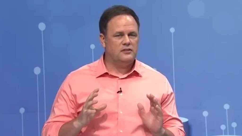 Bryan Harris, vicepresidente ejecutivo y CTO de SAS, durante el Global Forum de esta empresa.