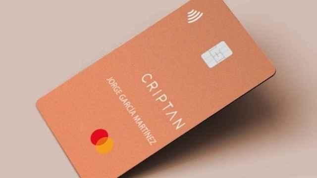 La tarjeta que Criptan ha lanzado junto a Mastercard.