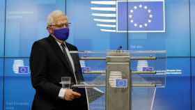 El jefe de la diplomacia de la UE, Josep Borrell, durante la rueda de prensa de este martes