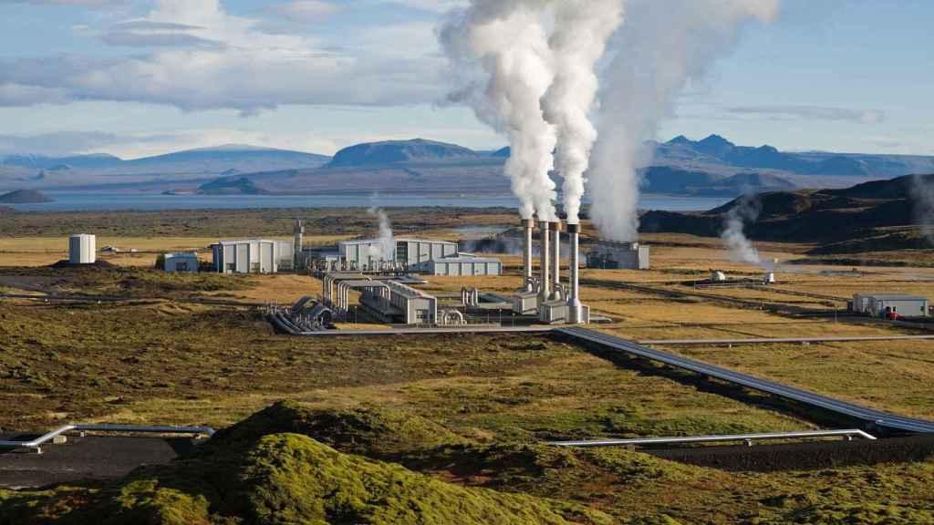 Central geotérmica en Islandia