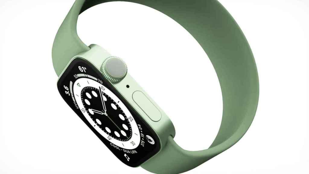 Concepto del Apple Watch series 7.