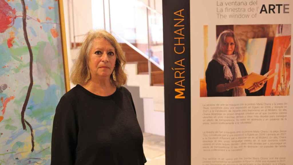 La artista María Chana en Mubag.
