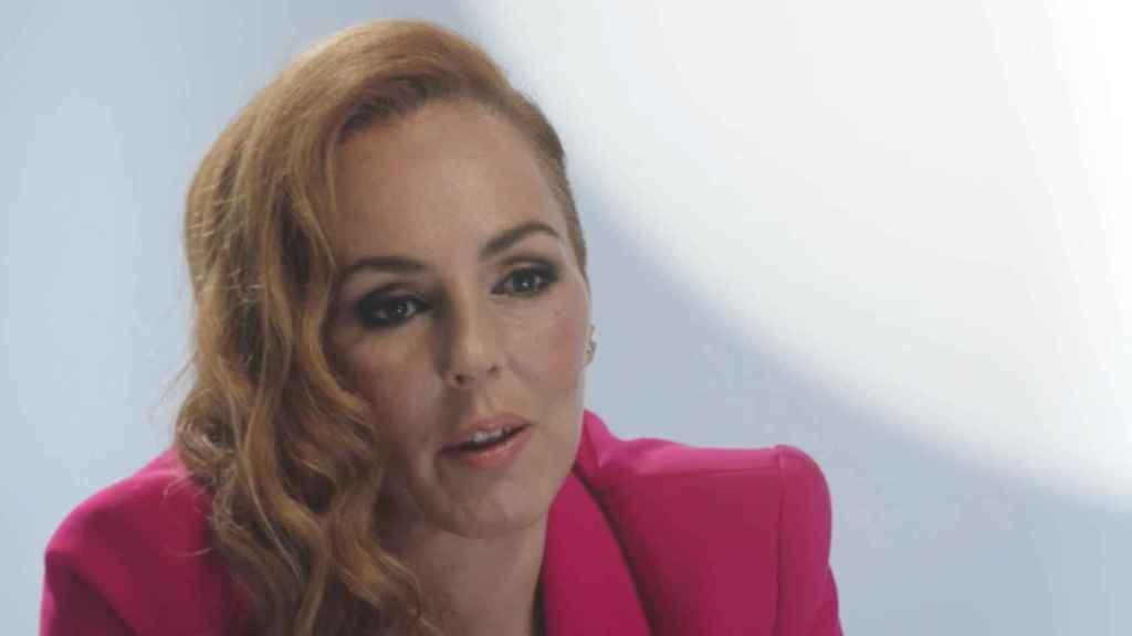 Rocío Carrasco durante la grabación del episodio 11 de 'Rocío: contar la verdad para seguir viva'.
