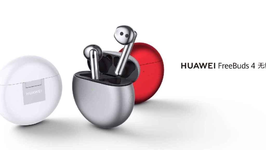 Nuevos Huawei FreeBuds 4: nuevo diseño, carga rápida y 22 horas de autonomía