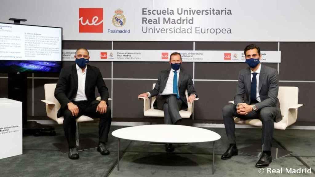Álvaro Arbeloa, en la Semana Blanca de la Escuela Universitaria Real Madrid Universidad Europea