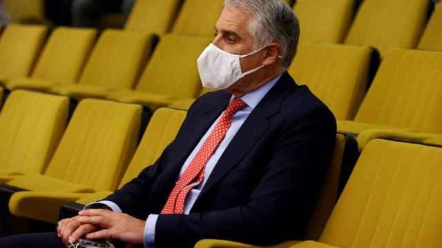 Andrea Orcel, consejero delegado de UniCredit, durante el juicio contra Santander por su fichaje fallido.