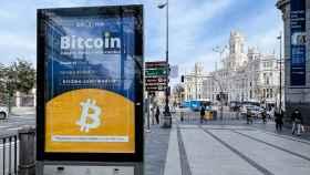 Campaña publicitaria de Bit2Me frente al Banco de España.