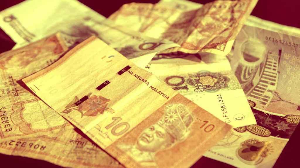 Billetes en circulación de países asiáticos.