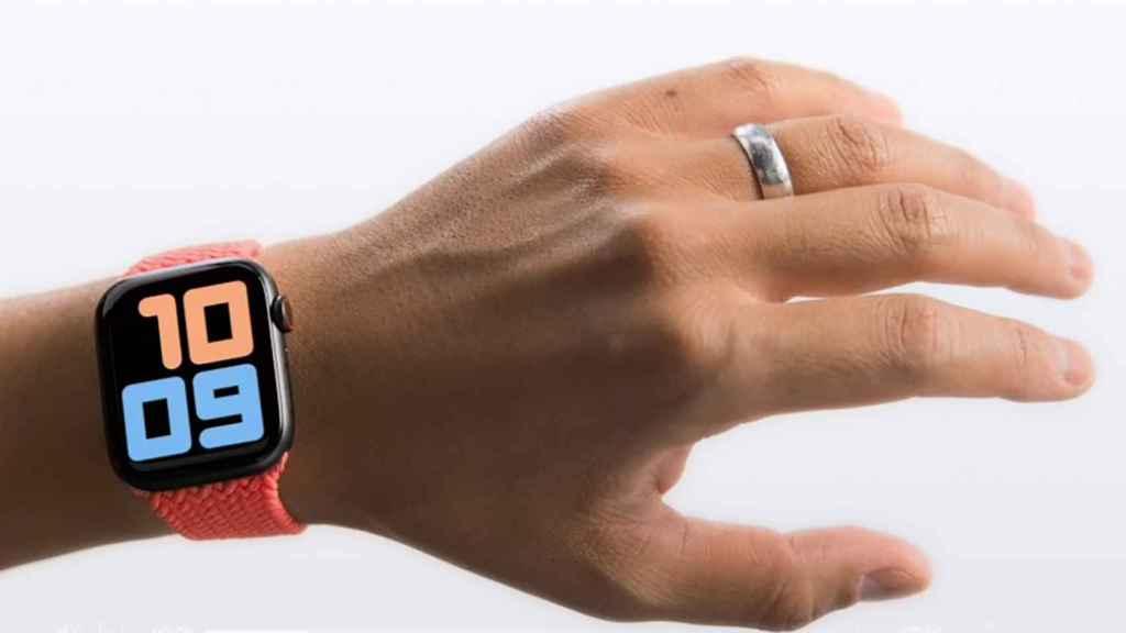 Gestos en un Apple Watch.