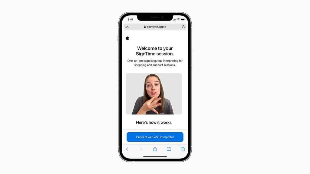 SignTime en iPhone