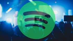 Fotomontaje con el logo de Spotify.