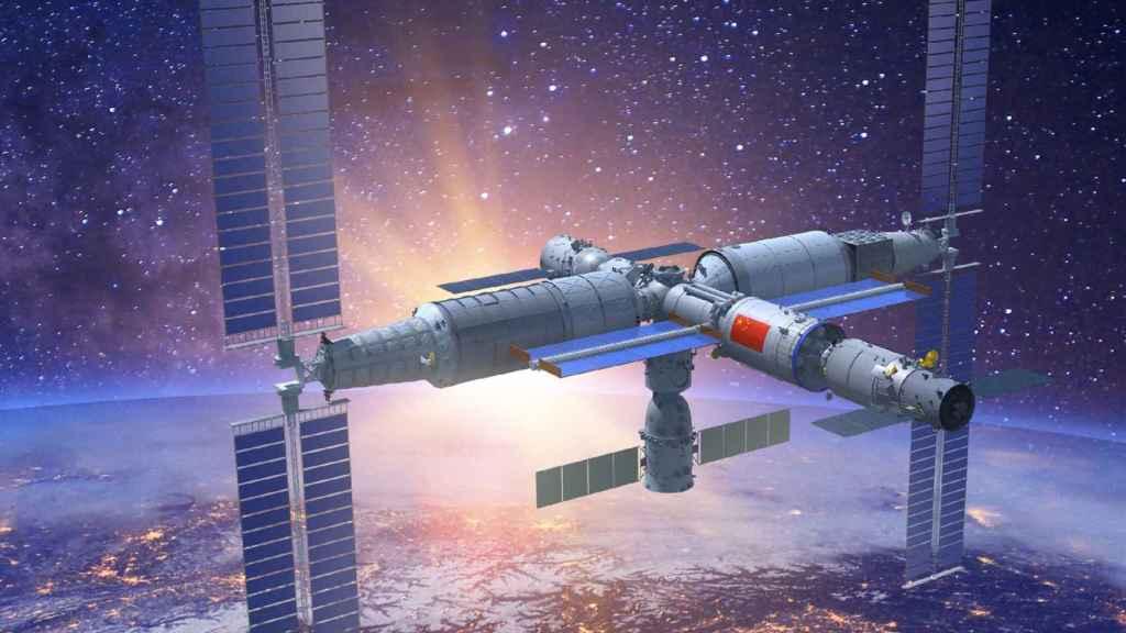 Recreación de la Estación Espacial China