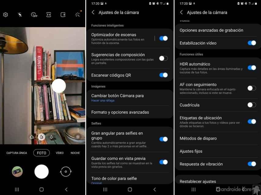 Samsung activates video stabilization