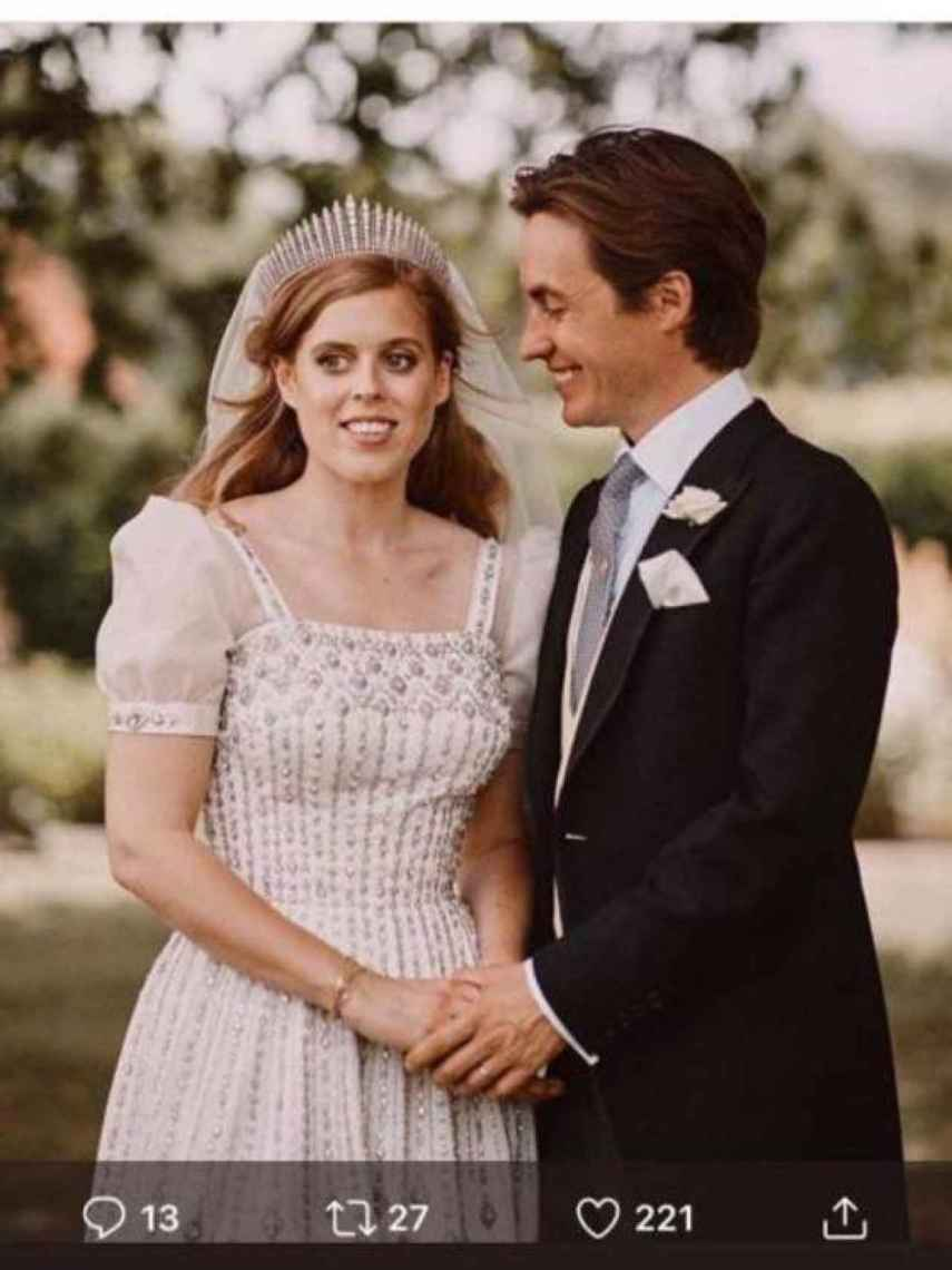 Beatriz de York y Edoardo Mapelli el día de su boda.