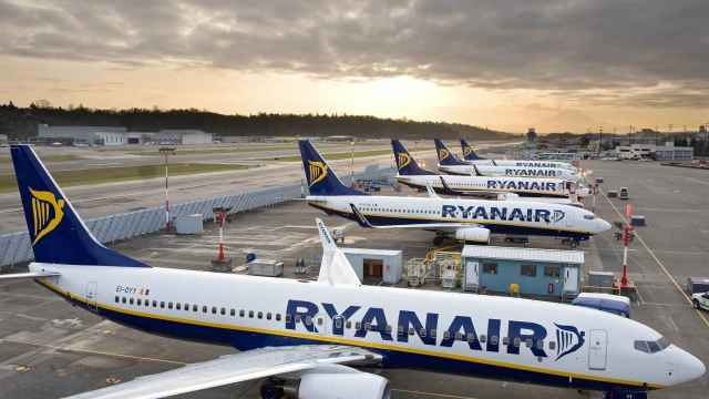Flota de aviones de Ryanair, en imagen de archivo.