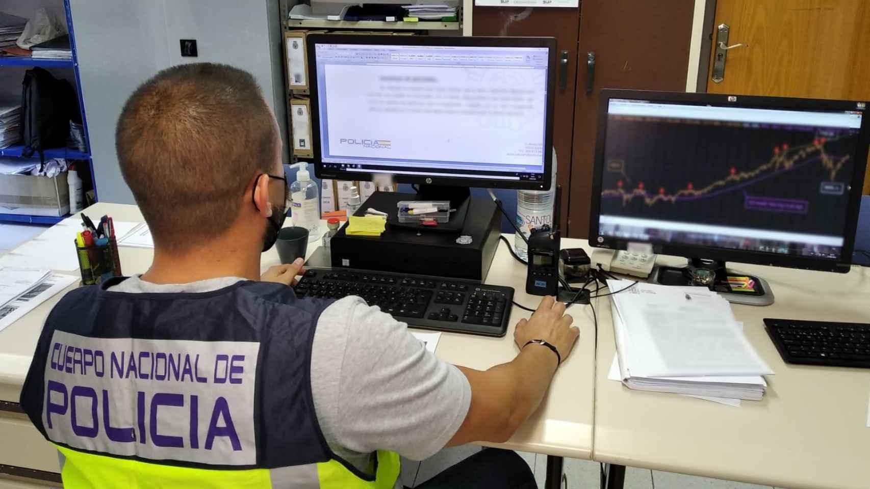 Imagen de la operación policial contra los supuestos brokers