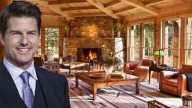Tom Cruise, junto a la cabaña que ha vendido en Colorado, en un fotomontaje de JALEOS.