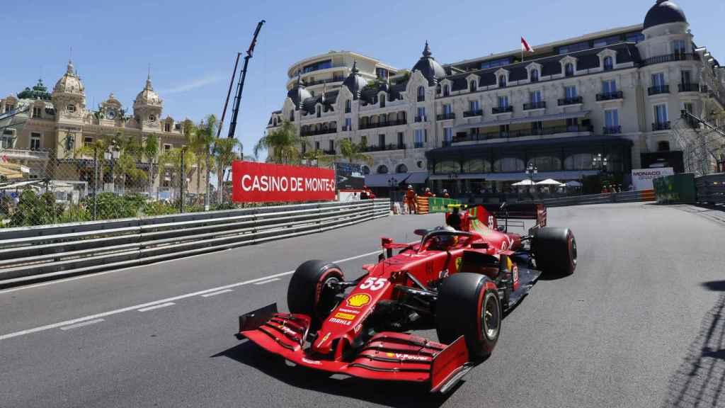 Carlos Sainz en el circuito de Mónaco