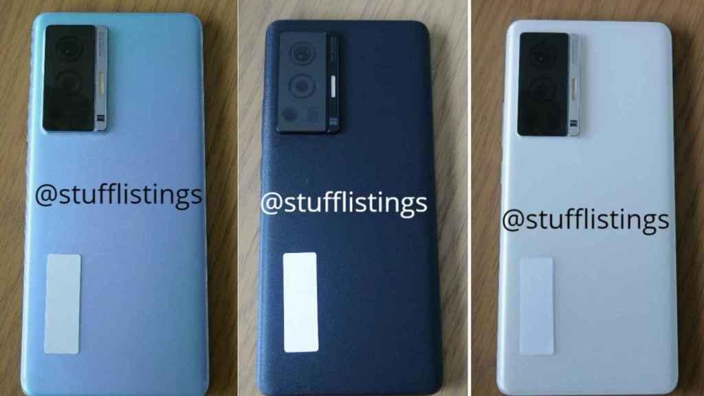 El Vivo X70 Pro se filtra: cuatro cámaras y colores muy sobrios