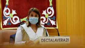 Tita García, alcaldesa de Talavera, este durante durante el Debate del Estado de la Ciudad
