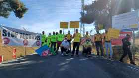 Un reducido grupo de trabajadores de Geacam han pedido la dimisión de Escudero