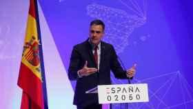 Pedro Sánchez, durante la presentación del plan España 2050.