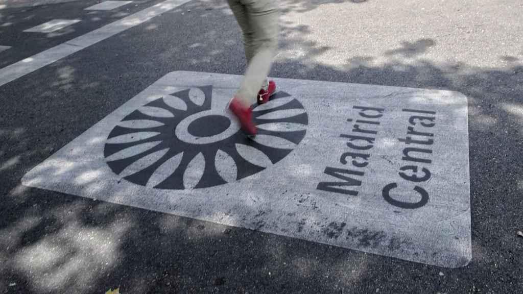 Señal de Madrid Central en el centro de la capital. EP