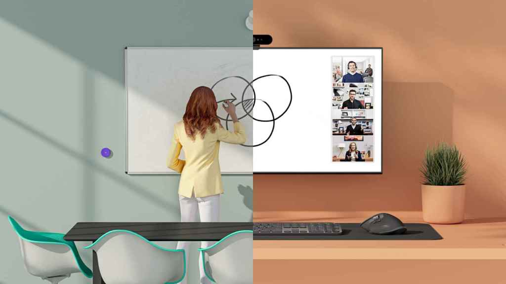 Logitech tiene una nueva cámara web para pizarras.