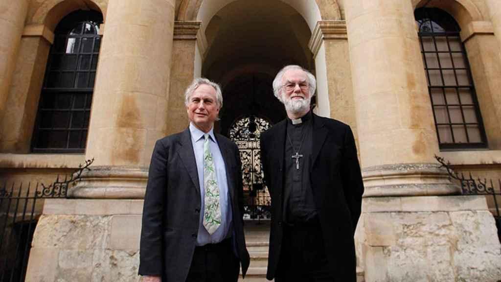 Richard Dawkins junto al arzobispo de Canterbury, Rowan Williams.