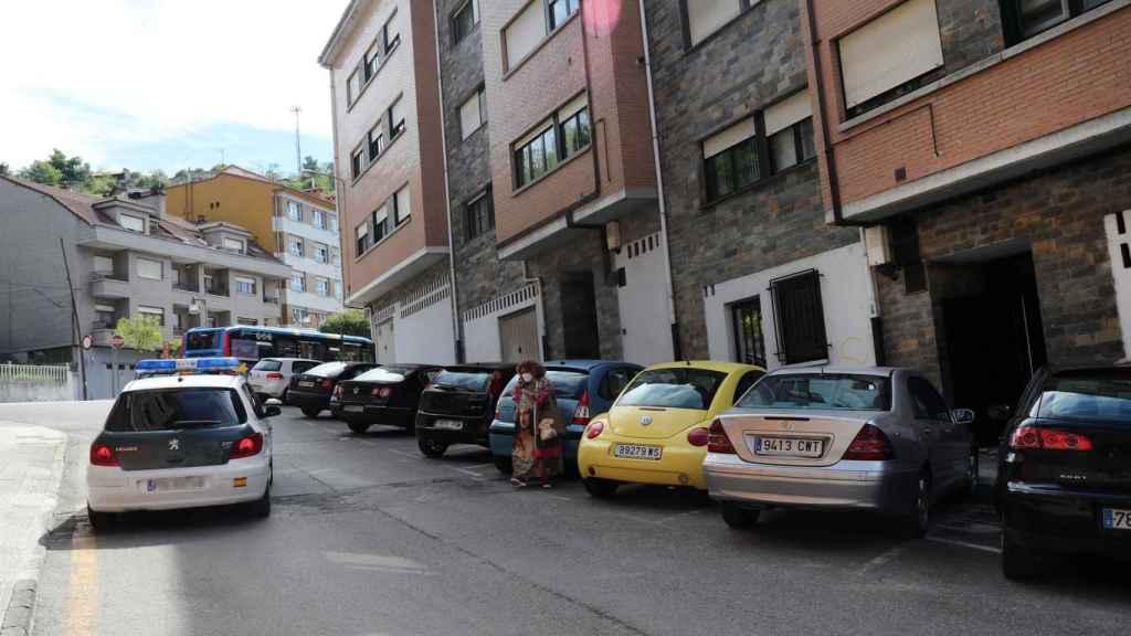 La calle Puerto de Tarna, en Pola de Laviana, donde tuvo lugar el suceso.