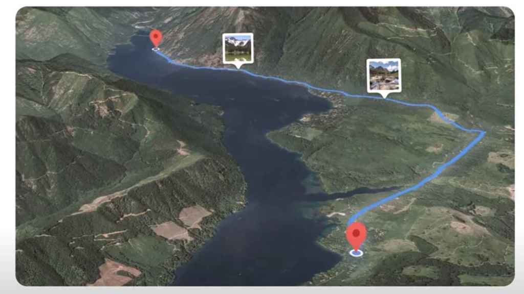 Smart routes for panoramic views from Google Maps