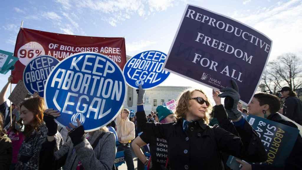 Manifestación en Estados Unidos a favor de la legalización del aborto