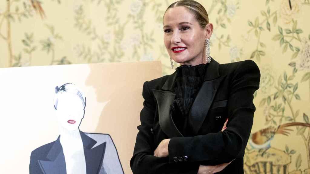 Fiona Ferrer en la presentación de 'La estilista', su último libro.
