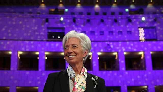 La presidenta del BCE, Christine Lagarde, durante un Eurogrupo.