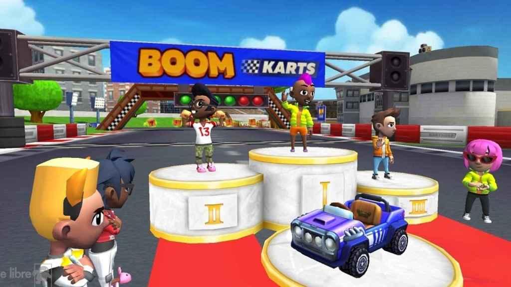 Boom Karts podio