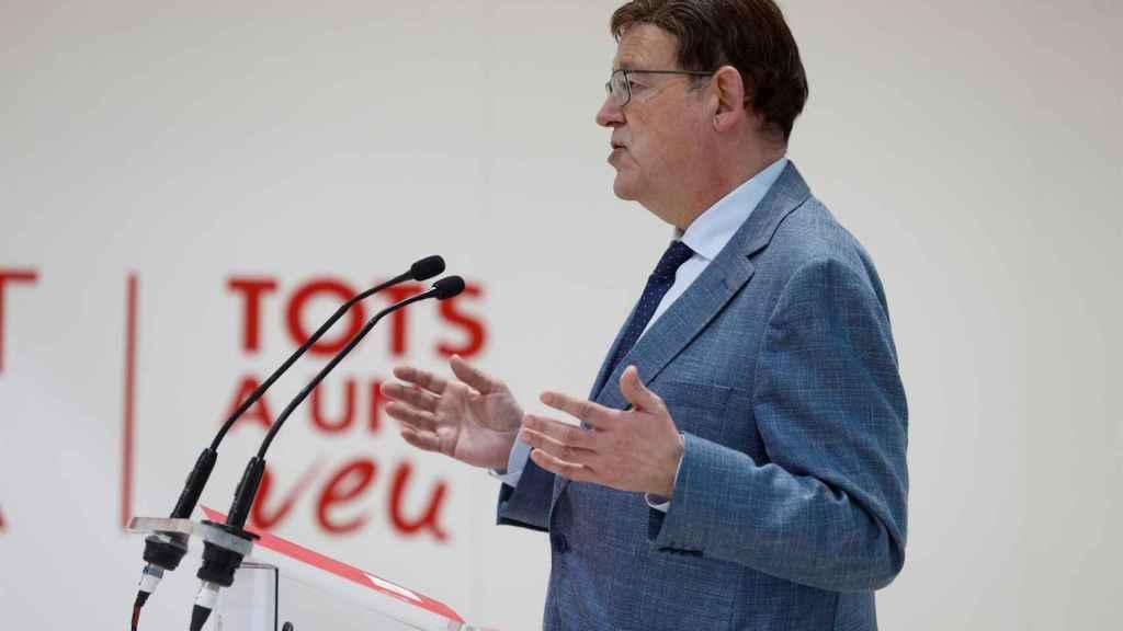 El presidente Ximo Puig, este viernes en Fitur.
