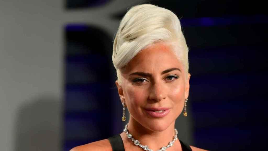 Lady Gaga, durante la fiesta de los premios Oscar 2019.