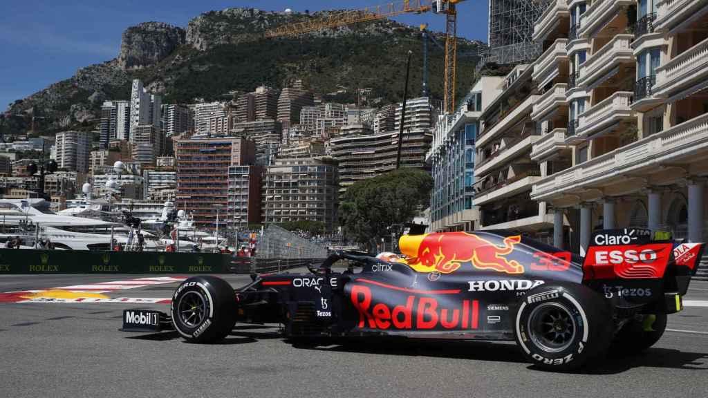 Max Verstappen en el circuito de Mónaco