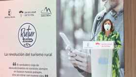 Presentación de la nueva aplicación turística de Castilla-La Mancha a cargo de la consejera Patricia Franco, este viernes en Fitur 2021