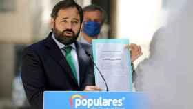 El presidente del PP de Castilla-La Mancha, Paco Núñez, este viernes en Ciudad Real