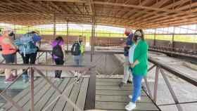 La viceconsejera de Cultura y Deportes de Castilla-La Mancha, Ana Muñoz, este viernes durante una visita al parque arqueológico de Carranque (Toledo)