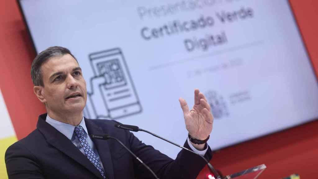 El presidente del Gobierno, Pedro Sánchez, este viernes en Fitur. EP