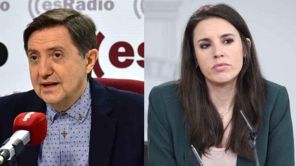 Federico Jiménez Losantos e Irene Montero./