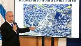 Netanyahu, explicando la ofensiva israelí en Gaza.