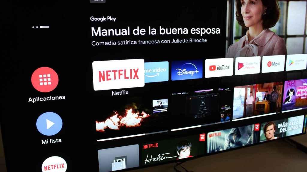 Así es la interfaz de Android TV.