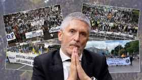 El ministro del Interior, Fernando Grande-Marlaska, en un fotomontaje.