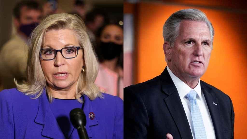 Los republicanos: Liz Cheney y Kevin McCarthy.