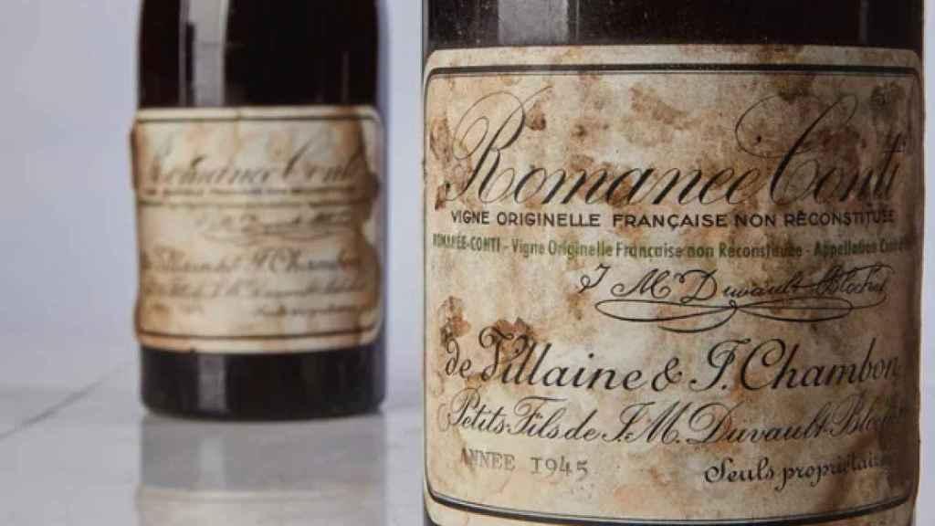 Viejas botellas de Romanée-Conti, de los más caros del mundo.
