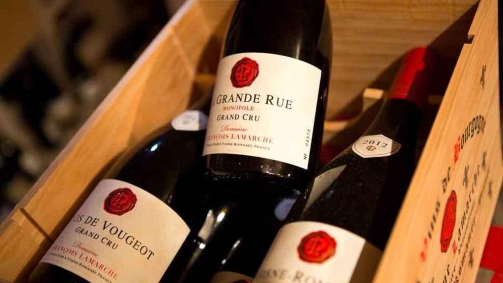 Botellas Grand Cru de Borgoña.